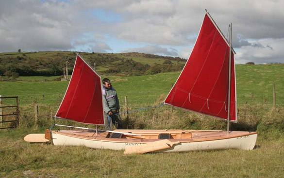 Plywood decked sailing canoe