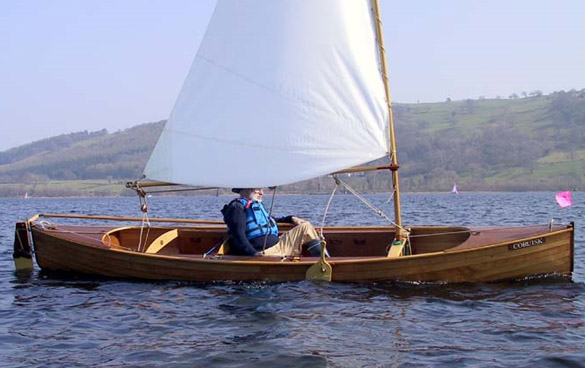 Custom Built Clinker Ply sailing canoe