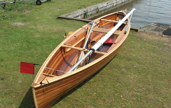 strip planked sailing canoe