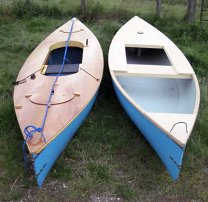 decked sailing canoes