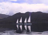 2 ketch rigs on outrigger canoes