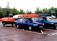 outrigger canoes on roof bars