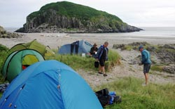 campsite , Ross of Mull