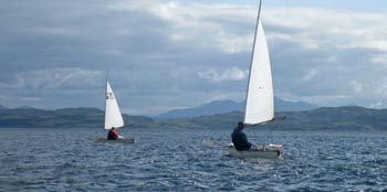 sailing canoes off mull