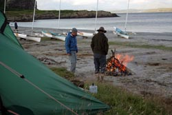 campfire on solway dory trip