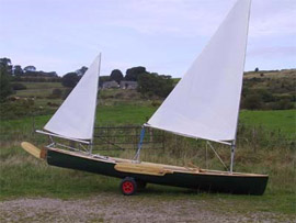 Sailing Canoe Avocet with Bermudan Ketch Rig