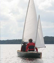 Sailing canoe with Bermudan Ketch Rig