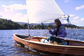 Strip planked Avocet Sailing Canoe