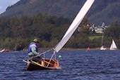 Sailing Canoe Avocet on Derwent Water