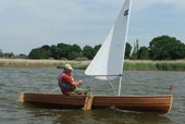 Solway Dory Sailing Canoe on Hickling Broad