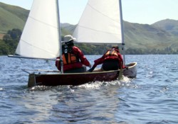 solway dory sailing canoe on Ullswater